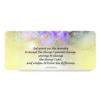 Serenity Prayer Crocus Yellow Glow Card