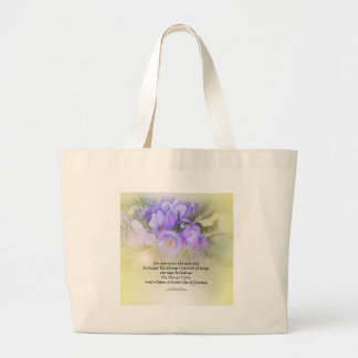 Serenity Prayer Crocus Yellow Glow Large Tote Bag