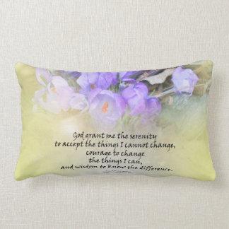 Serenity Prayer Crocus Yellow Glow Throw Pillow