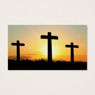 Serenity Prayer Crosses at Sunrise Business Card