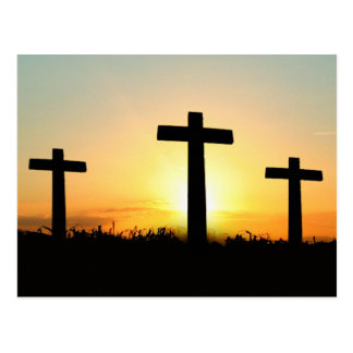 Serenity Prayer Crosses at Sunrise Postcard