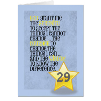 Serenity Prayer Customizable Birthday Card