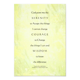 Serenity Prayer Daffodils Light Invitation