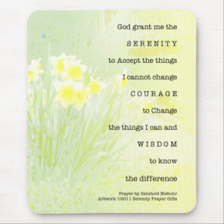 Serenity Prayer Daffodils Mouse Pad