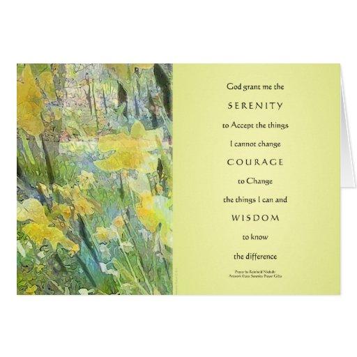 Serenity Prayer Daffodils Panels Card