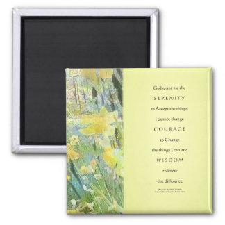Serenity Prayer Daffodils Panels Magnets