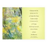 Serenity Prayer Daffodils Panels Postcard