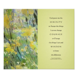 Serenity Prayer Daffodils Panels Print