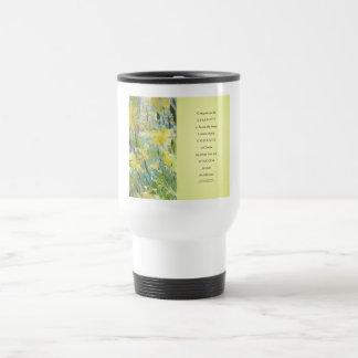 Serenity Prayer Daffodils Panels Travel Mug