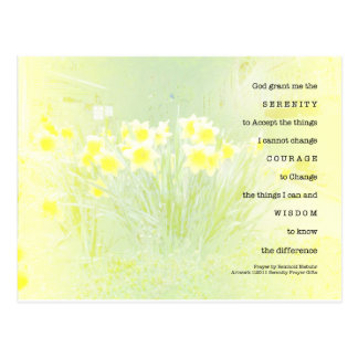Serenity Prayer Daffodils Postcard
