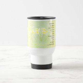 Serenity Prayer Daffodils Travel Mug