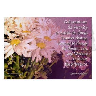 Serenity Prayer Daisies Card