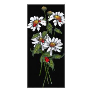 Serenity Prayer: Daisies, Ladybugs on Black: Art Rack Card