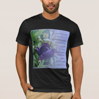 Serenity Prayer Deep Blue Tulip T-Shirt