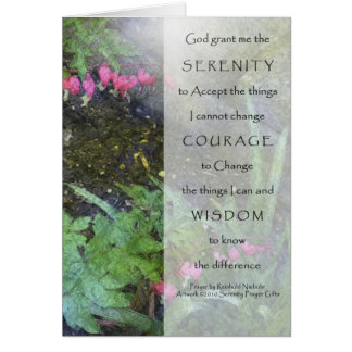 Serenity Prayer Dicentra Greeting Cards