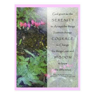 Serenity Prayer Dicentra Post Cards