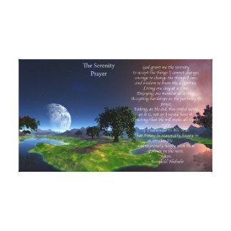 Serenity Prayer Digital Painting Canvas Prints