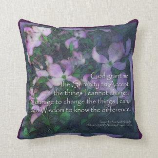 Serenity Prayer Dogwood American MoJo Pillow