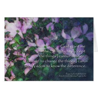 Serenity Prayer Dogwood Card