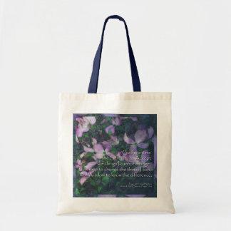 Serenity Prayer Dogwood Floral Design Tote Bag