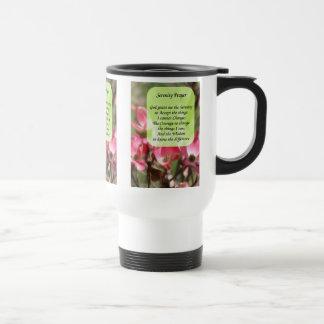 Serenity Prayer Dogwood Flowers Travel Mug