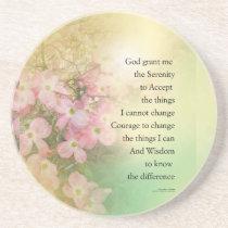 Serenity Prayer Dogwood Glow Coaster