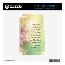 Serenity Prayer Dogwood Glow Decal For iPod Touch 4G