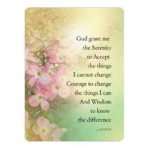 Serenity Prayer Dogwood Glow Invitation