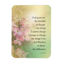 Serenity Prayer Dogwood Glow Magnet