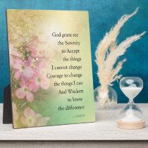 Serenity Prayer Dogwood Glow Plaque