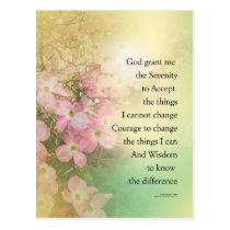 Serenity Prayer Dogwood Glow Postcard