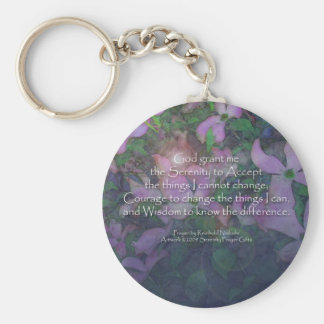 Serenity Prayer Dogwood Keychain