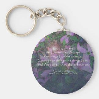 Serenity Prayer Dogwood Keychain