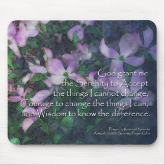 Serenity Prayer Dogwood Mouse Mat