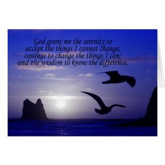 serenity prayer double bird blues card