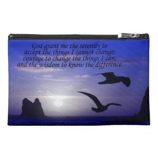 serenity prayer double bird blues travel bag travel accessory bags