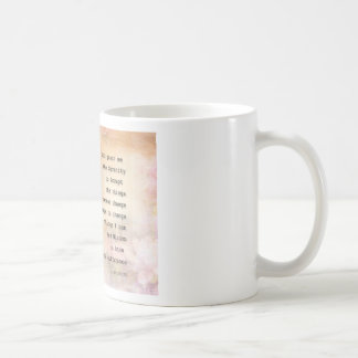Serenity Prayer Dove and Flowers Coffee Mug