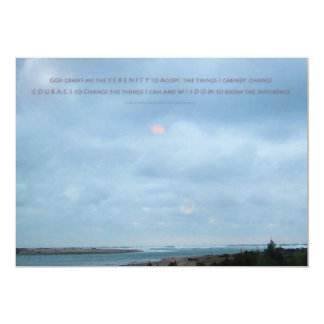 Serenity Prayer Driftwood Shores 5x7 Paper Invitation Card