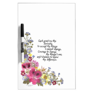 Serenity Prayer Dry Erase Board