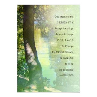 "Serenity Prayer Duck Pond Invitation 5"" X 7"" Invitation Card"