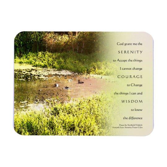 Serenity Prayer Duck Pond Magnet