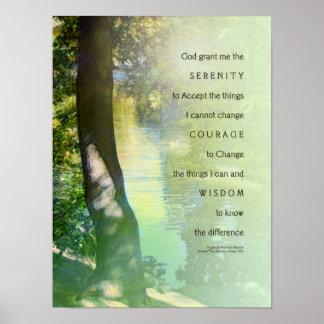 Serenity Prayer Duck Pond Poster