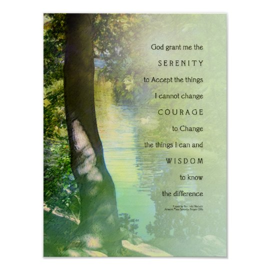 Serenity Prayer Duck Pond Poster
