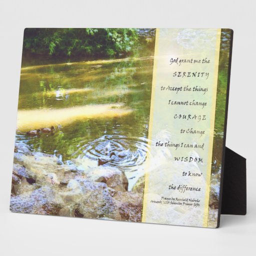 Serenity Prayer Duck Pond Reflections Plaques