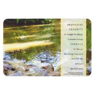 Serenity Prayer Duck Pond Reflections Rectangular Magnet