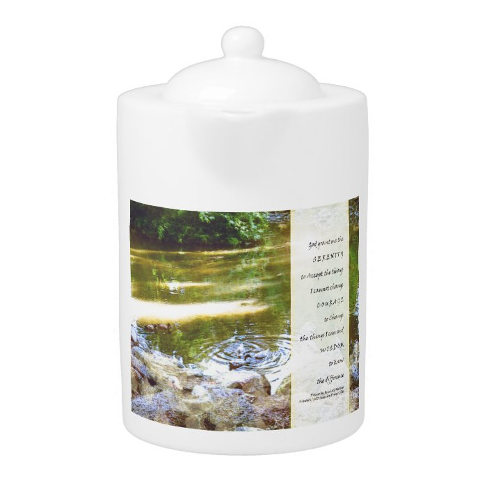 Serenity Prayer Duck Pond Reflections Teapot