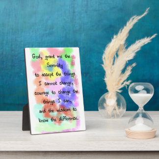 Serenity Prayer Easel Display Plaques