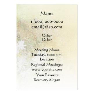 Serenity Prayer Fences Flowers Business Cards