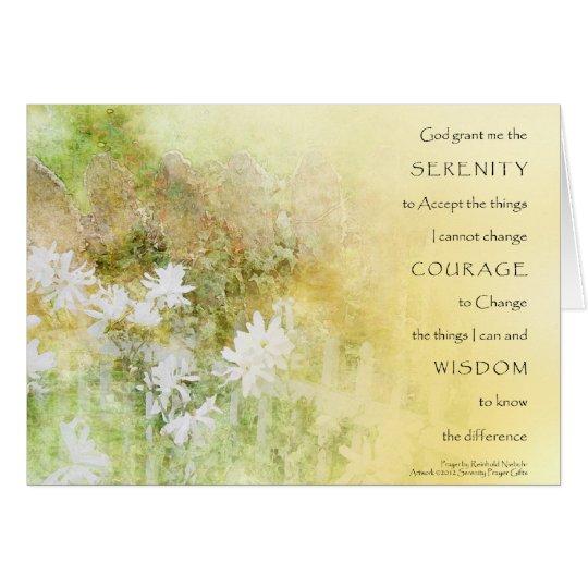 Serenity Prayer Fences Flowers Card