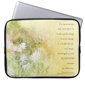 Serenity Prayer Fences Flowers Electronics Sleeve Laptop Sleeves